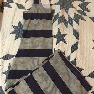 Purple & Gray maxi dress. Sz L
